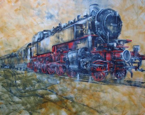 Carmen Kroese, Lok 86333, Technik, Verkehr, Gegenwartskunst, Expressionismus