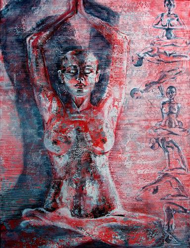 Carmen Heidi Kroese, Yoga, Akt/Erotik: Akt Frau, Menschen: Frau, Gegenwartskunst, Expressionismus