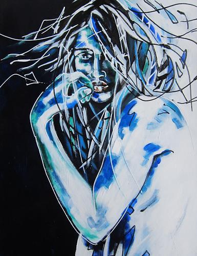 Carmen Kroese, unsicher, Menschen: Frau, Gefühle, Gegenwartskunst, Abstrakter Expressionismus
