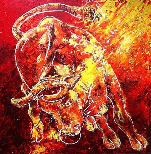 Carmen Kroese, Red Bull, Tiere: Land, Natur: Erde, Gegenwartskunst