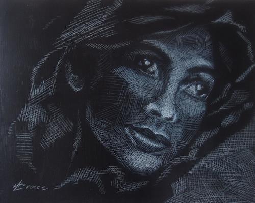 Carmen Kroese, Traum, Menschen: Gesichter, Menschen: Frau, Abstrakter Expressionismus