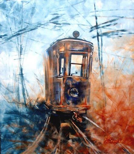 Carmen Heidi Kroese, Tram Nr. 17, Technik, Diverse Verkehr, Gegenwartskunst, Abstrakter Expressionismus
