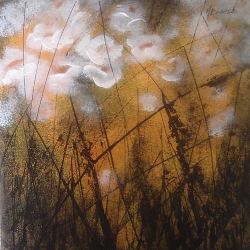 Carmen Kroese, Weisser Mohn, Pflanzen: Blumen, Natur: Erde, Gegenwartskunst, Expressionismus