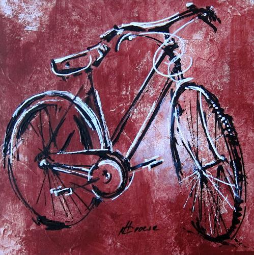 Carmen Heidi Kroese, altes Fahrrad, Bewegung, Dekoratives, Gegenwartskunst, Abstrakter Expressionismus