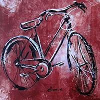 Carmen Kroese, altes Fahrrad