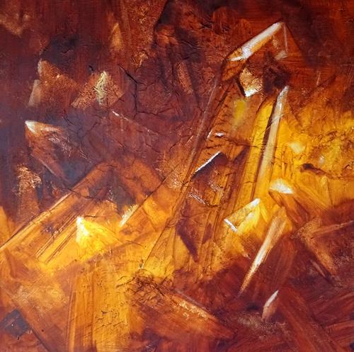 Carmen Heidi Kroese, Kristallquarz, Diverses, Natur: Erde, Gegenwartskunst, Expressionismus