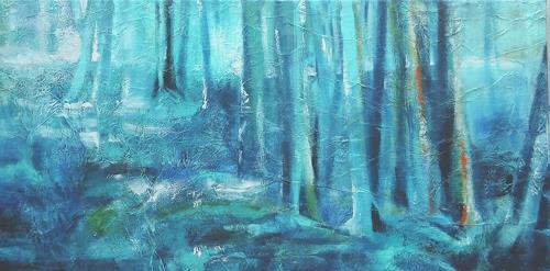 Carmen Heidi Kroese, Ruhe, Natur: Wald, Landschaft: Winter, Gegenwartskunst, Expressionismus