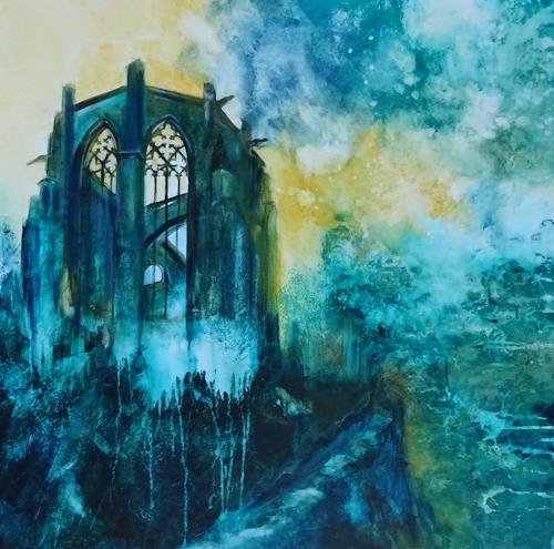 Carmen Heidi Kroese, Mahnmal in Bacharach, Abstraktes, Bauten: Kirchen, expressiver Realismus, Abstrakter Expressionismus