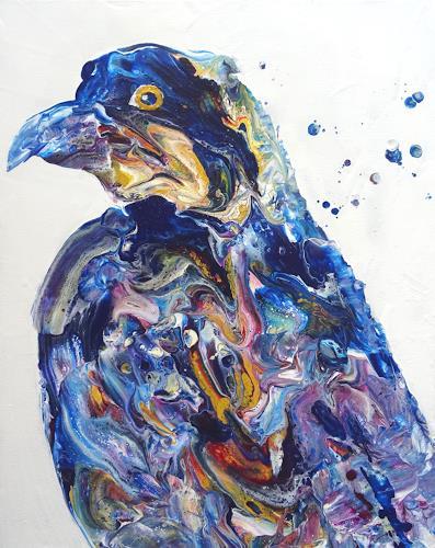 Carmen Heidi Kroese, Vogel, Tiere, Tiere: Luft, expressiver Realismus, Expressionismus