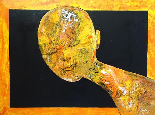 Carmen Heidi Kroese, the happy one, Menschen: Frau, Gefühle: Freude, expressiver Realismus, Abstrakter Expressionismus