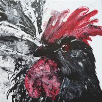 Carmen-Heidi-Kroese-Tiere-Land-Tiere-Luft-Moderne-expressiver-Realismus