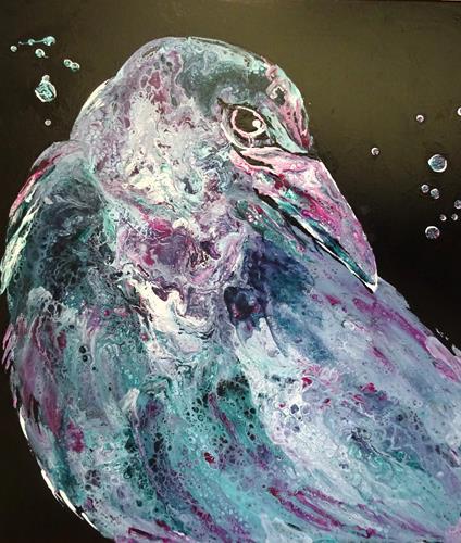 Carmen Heidi Kroese, wachsam, Tiere: Luft, Tiere: Land, Abstrakte Kunst, Abstrakter Expressionismus