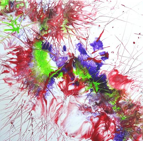 Carmen Heidi Kroese, Blumenpracht, Pflanzen: Blumen, Abstraktes, Action Painting, Abstrakter Expressionismus