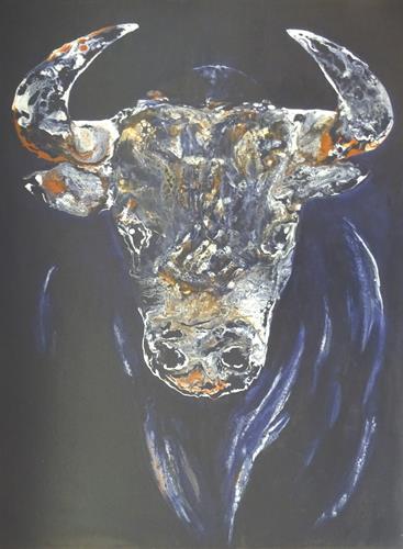 Carmen Heidi Kroese, Champion, Tiere: Land, Abstraktes, expressiver Realismus, Abstrakter Expressionismus