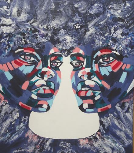 Carmen Heidi Kroese, black lives matter, Menschen: Gesichter, Diverse Gefühle, expressiver Realismus, Abstrakter Expressionismus