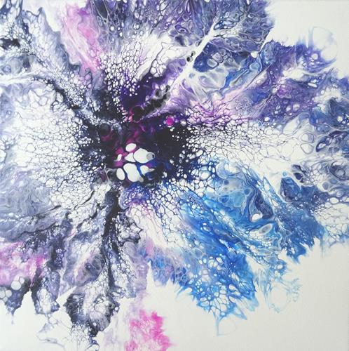 Carmen Heidi Kroese, Tiefseewunder, Natur: Wasser, Diverse Pflanzen, Action Painting, Expressionismus