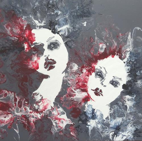Carmen Heidi Kroese, Dreams, Menschen: Frau, Menschen: Gesichter, expressiver Realismus, Abstrakter Expressionismus