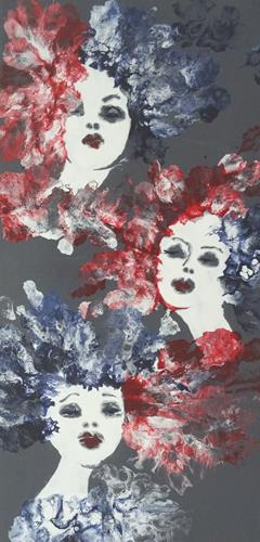 Carmen Heidi Kroese, Spieglein Spieglein an der Wand....., Menschen: Gesichter, Menschen: Porträt, expressiver Realismus