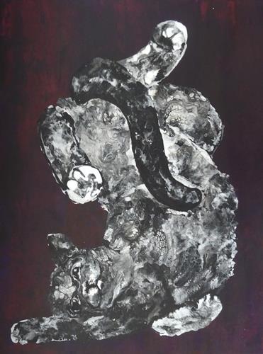 Carmen Heidi Kroese, Die Welt steht Kopf, Tiere: Land, Diverse Gefühle, expressiver Realismus, Abstrakter Expressionismus