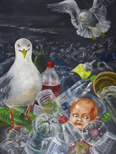 Carmen Heidi Kroese, Spuren der Zivilisation, Natur: Erde, Gefühle: Depression, expressiver Realismus