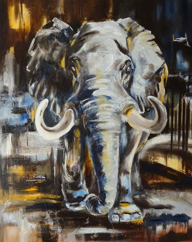 Carmen Heidi Kroese, Grauer Riese, Tiere, Tiere: Land, expressiver Realismus, Expressionismus