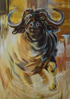 Carmen-Heidi-Kroese-Tiere-Tiere-Land-Moderne-expressiver-Realismus