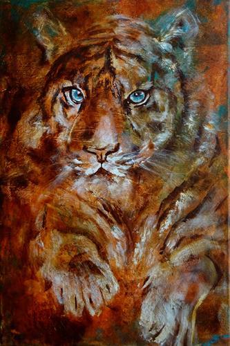 Carmen Heidi Kroese, Tiger, Tiere: Land, expressiver Realismus