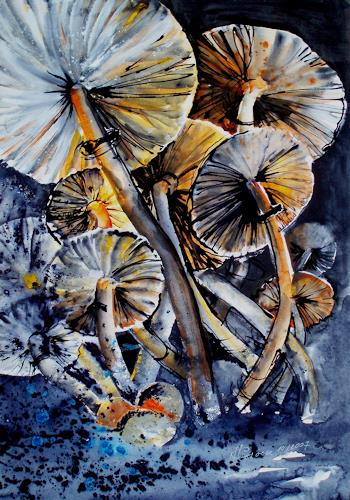 Carmen Kroese, Pilze, Natur: Diverse, Expressionismus