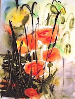 Carmen-Kroese-Natur-Diverse-Pflanzen-Blumen-Moderne-Abstrakte-Kunst