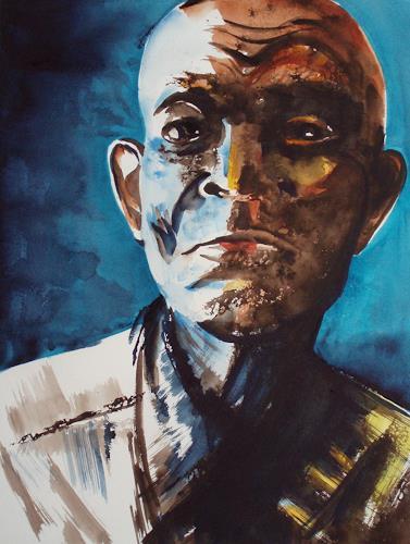 Carmen Heidi Kroese, Portrait A.M., Menschen: Gesichter, Menschen: Mann, Gegenwartskunst, Expressionismus
