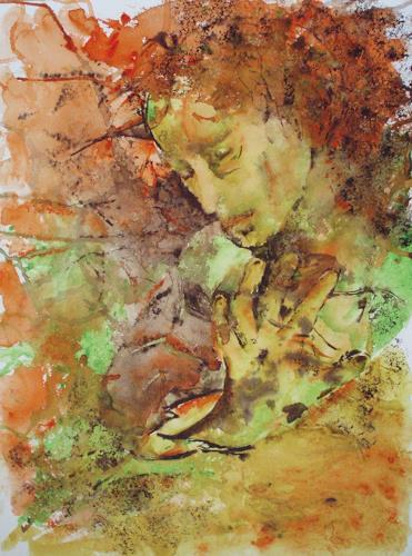 Carmen Heidi Kroese, Ohne mich, Menschen: Frau, Menschen: Gesichter, Gegenwartskunst, Expressionismus