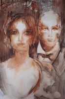 Carmen-Kroese-Menschen-Gesichter-Menschen-Paare-Gegenwartskunst--Gegenwartskunst-