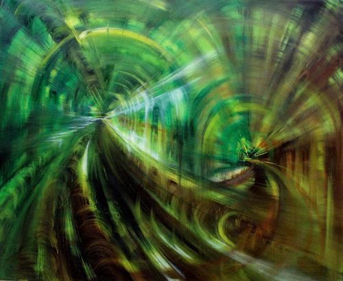 Carmen Kroese, Metro2, Abstraktes, Architektur, Gegenwartskunst, Abstrakter Expressionismus