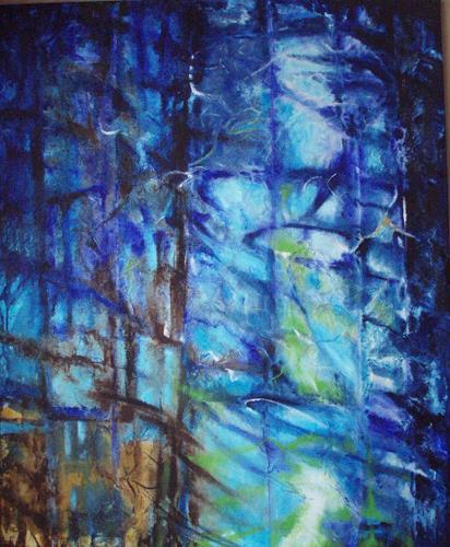 Carmen Kroese, Die Treppe nach oben, Abstraktes, Technik, Gegenwartskunst
