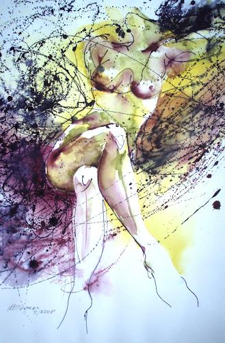 Carmen Kroese, Rita 2, Akt/Erotik: Akt Frau, Menschen: Frau, Gegenwartskunst, Abstrakter Expressionismus