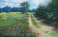 Kerstin-Birk-Landschaft-Sommer-Pflanzen-Blumen-Neuzeit-Realismus