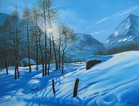 Kerstin-Birk-Landschaft-Winter-Landschaft-Berge-Neuzeit-Realismus