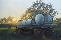 K. Birk, Wassertankhänger in der Abendsonne