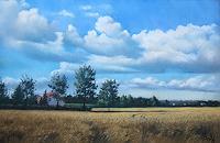 K. Birk, Wolken über Kornfeld