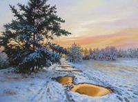 Kerstin-Birk-Landschaft-Winter-Natur-Wald-Neuzeit-Realismus