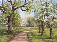 Kerstin-Birk-Landschaft-Fruehling-Pflanzen-Baeume-Neuzeit-Realismus