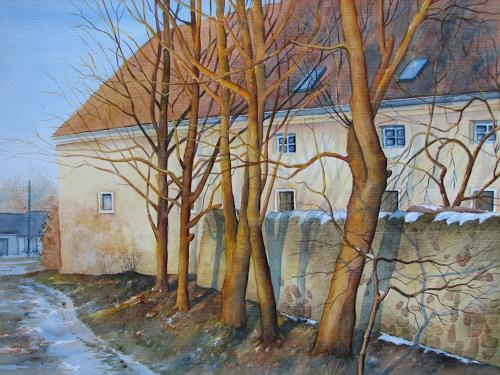 Kerstin Birk, Wintersonne (Moritz), Landschaft: Winter, Pflanzen: Bäume, Realismus