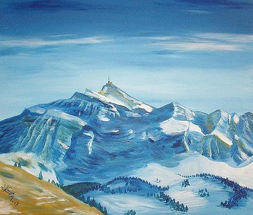 Irene Varga, Säntis, Landschaft: Berge, Zeiten: Winter, Gegenwartskunst