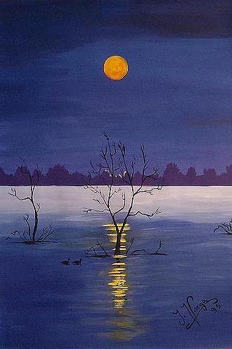 Irene Varga, Ice Lake, Landschaft: Winter, Landschaft: See/Meer, Gegenwartskunst