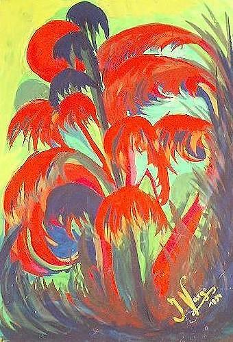 Irene Varga, Wild plants, Diverse Pflanzen, Fantasie, Gegenwartskunst