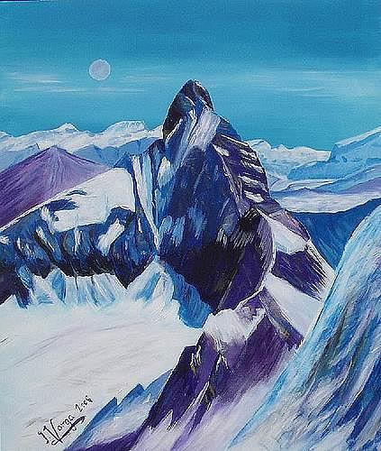 Irene Varga, Matterhorn West, Landschaft: Berge, Zeiten: Winter, Gegenwartskunst