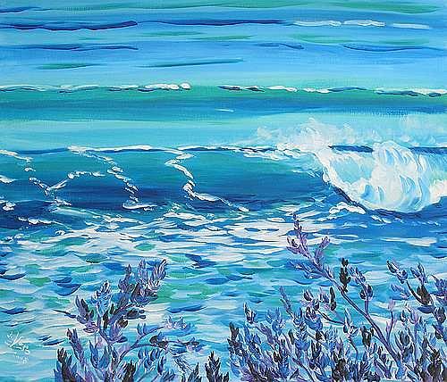 Irene Varga, Madeira Welle, Landschaft: See/Meer, Natur: Wasser, Gegenwartskunst