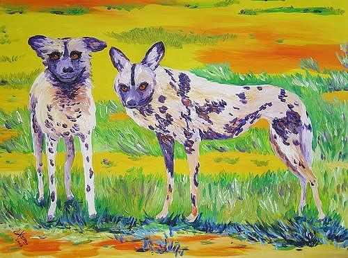 Irene Varga, Hyena Land, Tiere: Land, Diverse Landschaften, Gegenwartskunst