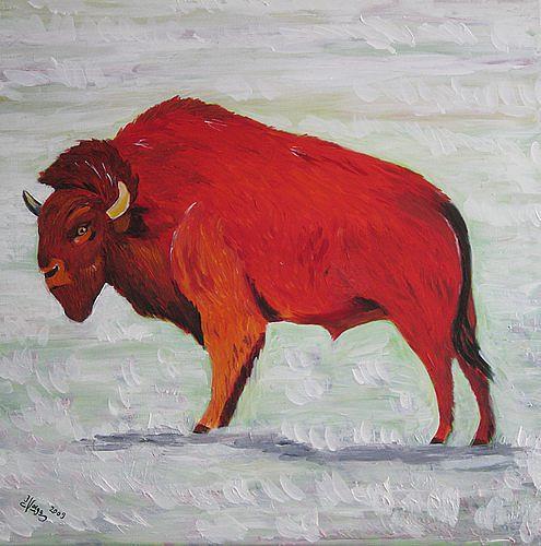 Irene Varga, Bison and Frost, Tiere: Land, Gegenwartskunst