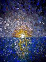 Agnes-Abplanalp-Natur-Wasser-Romantik-Sonnenuntergang-Moderne-Impressionismus-Pointilismus